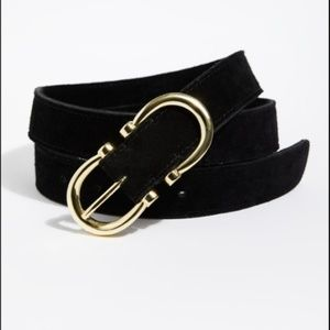 Free People Black Suede Infinity Belt